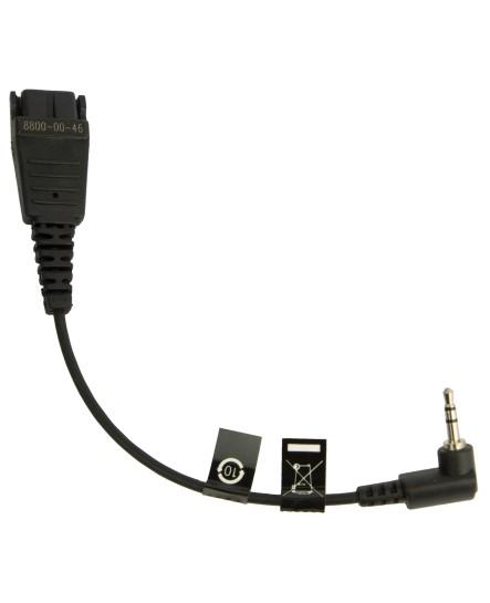 Jabra GN QD-2.5mm 15cm headsetkabel