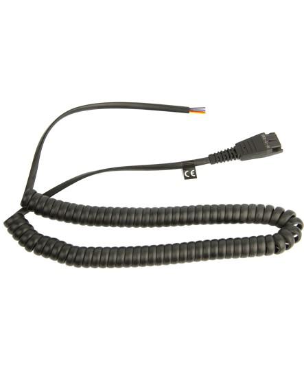 Jabra GN QD-kabel 2m med öppen ände headsetkabel