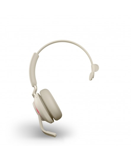 Jabra Evolve2 65 MS inklusive laddställ USB-A beige mono headset