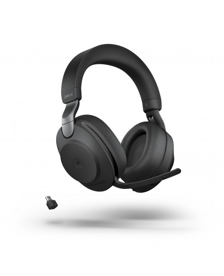 Jabra Evolve2 85 MS inklusive laddställ 3,5 mm USB-C svart stereo headset