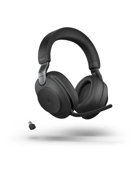 Jabra Evolve2 85 MS 3,5 mm USB-C svart stereo headset
