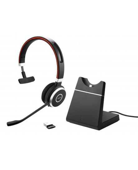 Jabra Evolve 65 UC mono headset inklusive laddställ