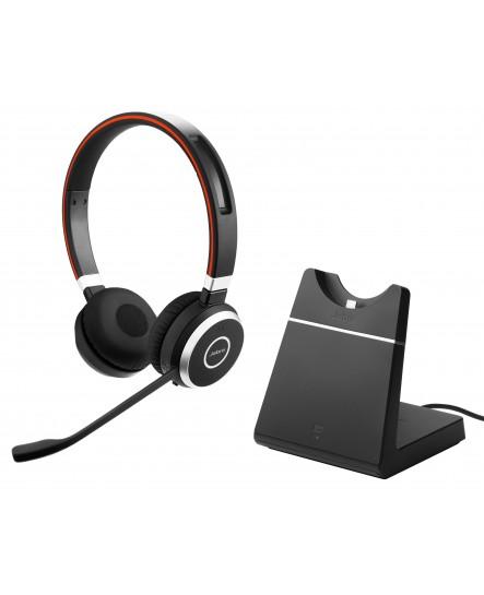 Jabra Evolve 65 UC stereo headset inklusive laddställ