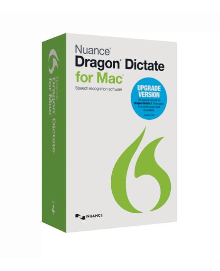 Dragon Dictate för Mac, v4, uppgradering, engelska