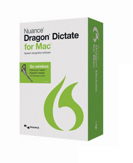 Dragon Dictate för Mac, v4, wireless, engelska