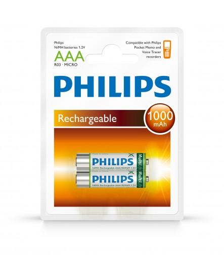 Philips återuppladdningsbara batterier LFH9154