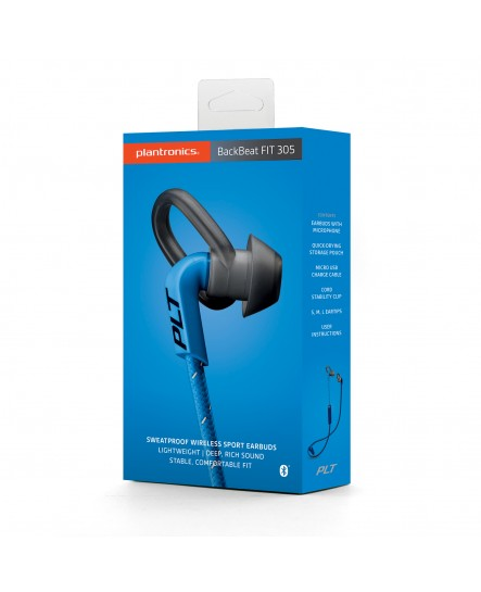 Plantronics BackBeat Fit 305 blå bluetooth stereo headset
