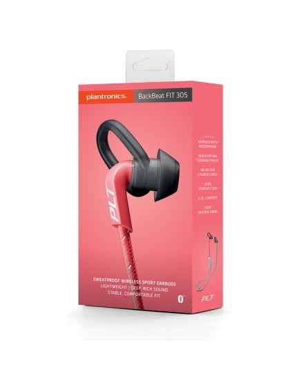 Plantronics BackBeat Fit 305 rosa/grå bluetooth stereo headset