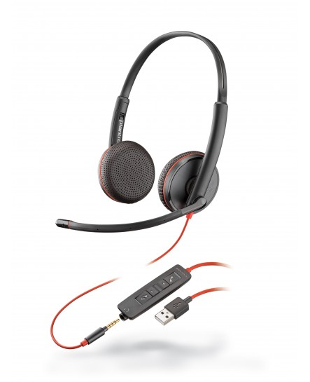 Plantronics C3225 BlackWire USB-A stereo headset