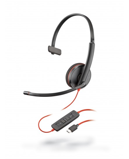 Plantronics C3210C BlackWire USB-C mono headset