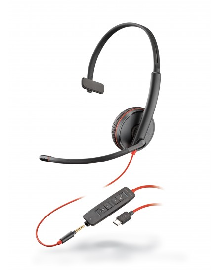Plantronics C3215C BlackWire USB-C mono headset