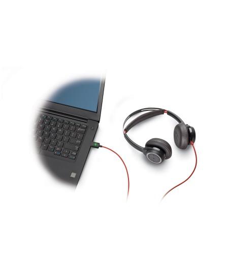 Plantronics BlackWire 7225 USB-A ANC black stereo headset