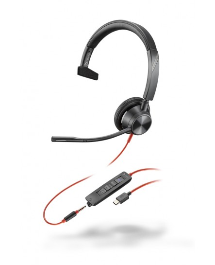 Plantronics BlackWire BW3315-M USB-C / 3,5 mm mono headset