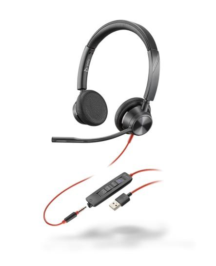 Plantronics BlackWire BW3325-M USB-A stereo headset