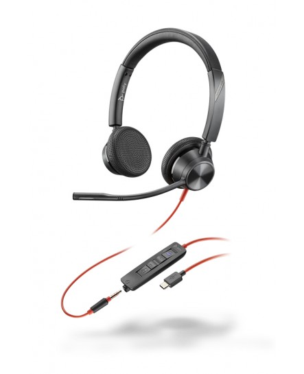 Plantronics BlackWire BW3325-M USB-C stereo headset