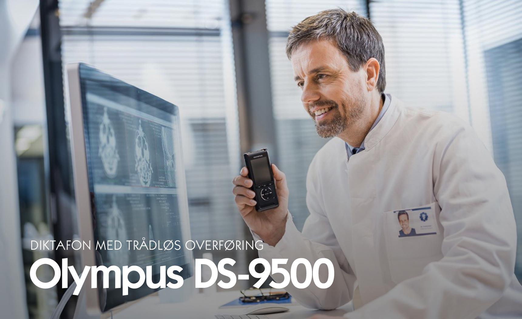 Diktafon med trådløs overføring - Olympus DS-9500