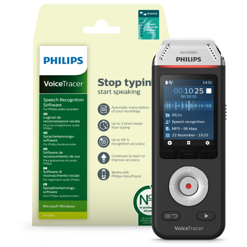 Philips VoiceTracer DVT2810 diktafon
